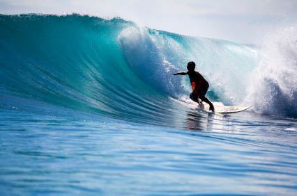 surfing boy