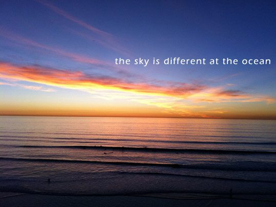 Photo of The Sky Is Different At The Ocean