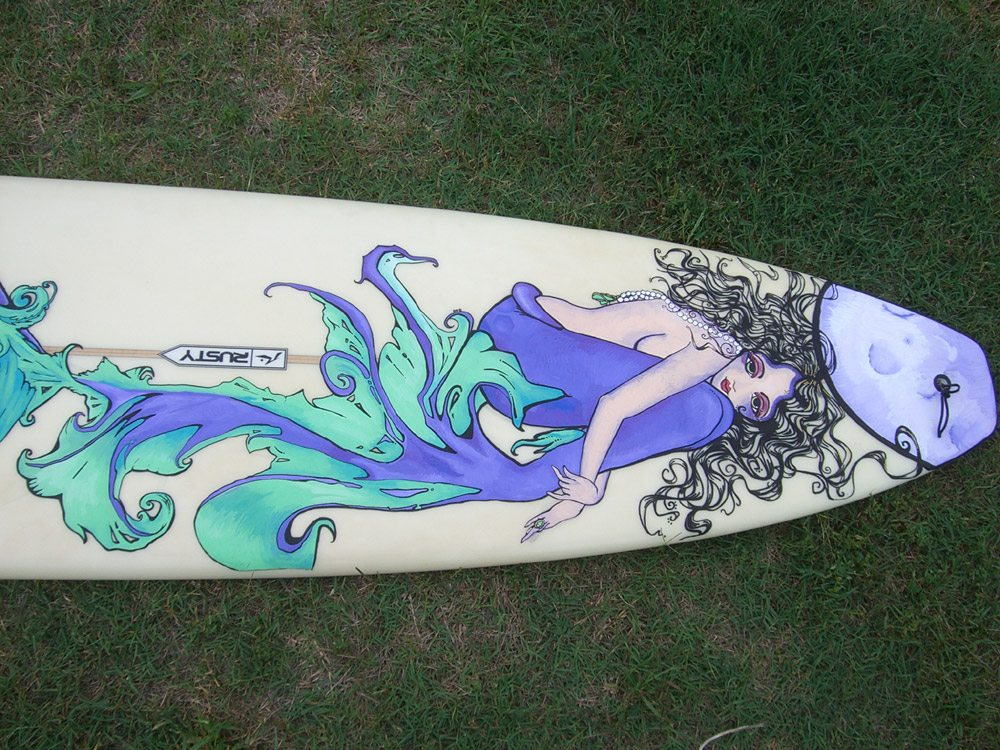 Photo of Mickey June's Surfboard Art