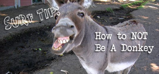 Surf Tip: How NOT To Be A Donkey
