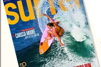 Photo of Carissa Moore Surfer Mag Cover