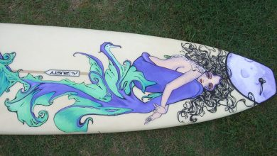 Mickey June's Surfboard Art 3