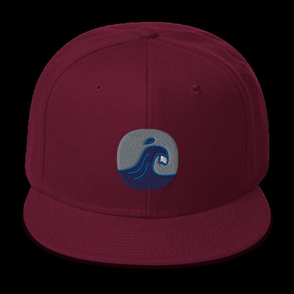 Surfing Handbook Wave Logo Snapback Hat 3