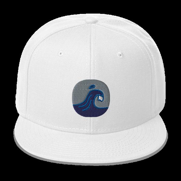Surfing Handbook Wave Logo Snapback Hat 4