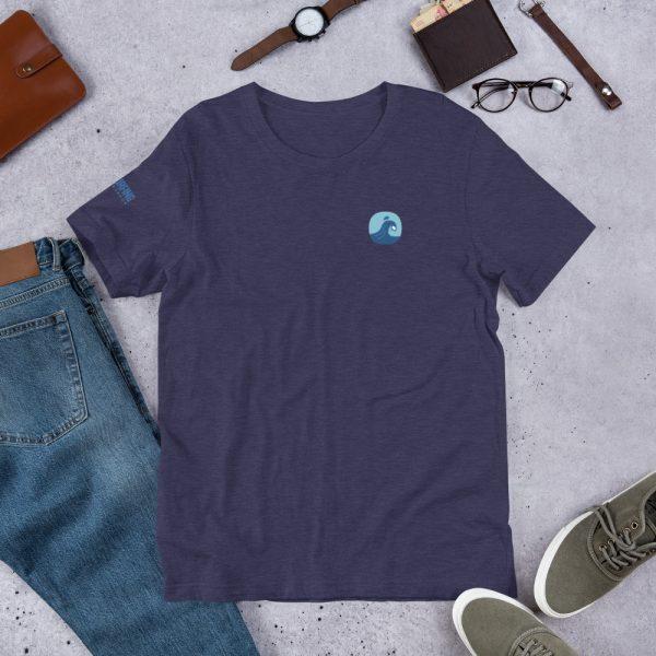 Surfing Handbook Wave Short-Sleeve Unisex T-Shirt 3