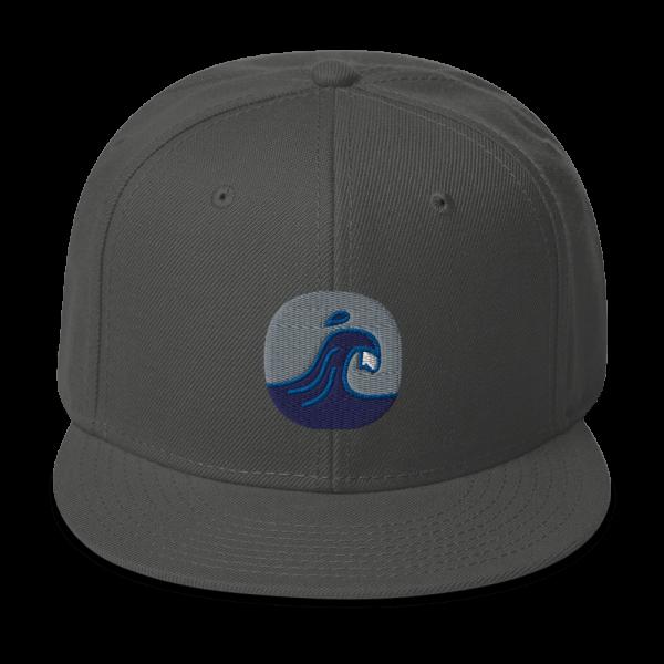Surfing Handbook Wave Logo Snapback Hat 1