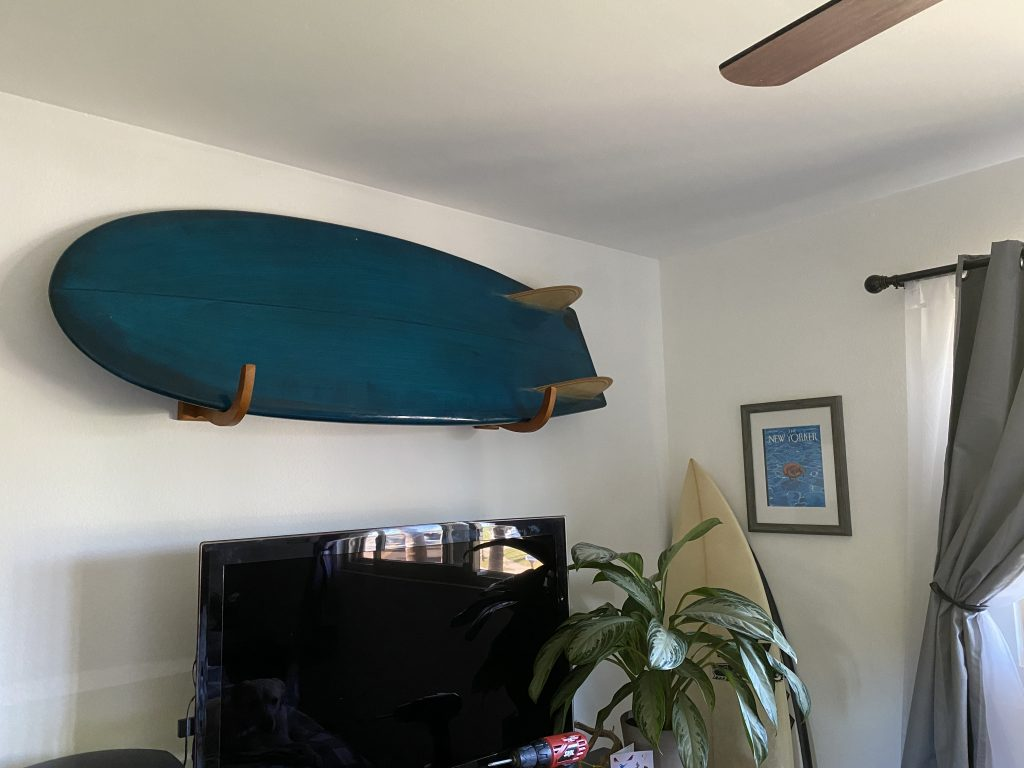 How To Install A Surfboard Wall Mount 6